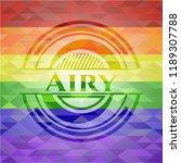 airy lgbt colors emblem    Shutterstock .eps vector #1189307788