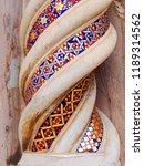 mosaic detail on column of... | Shutterstock . vector #1189314562