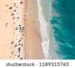 aerial view of a sandy beach... | Shutterstock . vector #1189315765