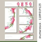 floral spring templates with... | Shutterstock .eps vector #1189319125
