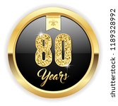 gold 80 years  anniversary... | Shutterstock .eps vector #1189328992