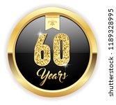 gold 60 years  anniversary... | Shutterstock .eps vector #1189328995