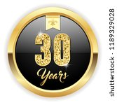 gold 30 years  anniversary... | Shutterstock .eps vector #1189329028