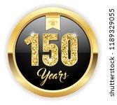 gold 150 years  anniversary... | Shutterstock .eps vector #1189329055