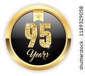 gold 95 years  anniversary... | Shutterstock .eps vector #1189329058
