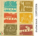 vintage pizza labels | Shutterstock .eps vector #118933306