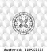 crossed bandage plaster icon... | Shutterstock .eps vector #1189335838