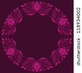 invitation card with lace... | Shutterstock .eps vector #118934002
