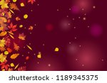autumn leaves isolated on... | Shutterstock .eps vector #1189345375