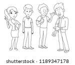 four friends man woman boy girl ... | Shutterstock .eps vector #1189347178