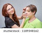 professional visage artist...   Shutterstock . vector #1189348162