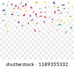 many falling colorful tiny... | Shutterstock .eps vector #1189355332