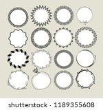 collection of round decorative... | Shutterstock .eps vector #1189355608