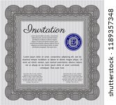grey formal invitation. cordial ... | Shutterstock .eps vector #1189357348