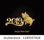 pig is a symbol of the 2019... | Shutterstock .eps vector #1189357828