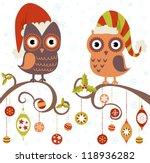 cute winter christmas card of...   Shutterstock .eps vector #118936282