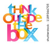 think outside the box... | Shutterstock .eps vector #1189366705