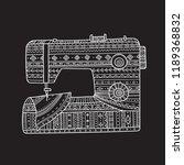 vector illustration of sewing... | Shutterstock .eps vector #1189368832