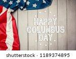 happy columbus day banner ...   Shutterstock . vector #1189374895