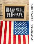 composite of veterans day flag   Shutterstock . vector #1189374898
