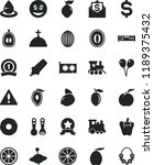 solid black flat icon set... | Shutterstock .eps vector #1189375432