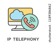 icon ip telephony. telephone... | Shutterstock .eps vector #1189386862