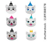 collection of cute cat | Shutterstock .eps vector #1189388578