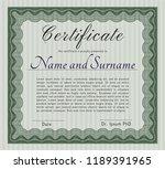green diploma template. cordial ...   Shutterstock .eps vector #1189391965