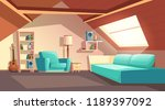 vector cartoon background with... | Shutterstock .eps vector #1189397092