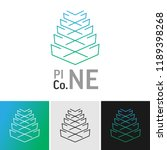 pinecone line logo with... | Shutterstock .eps vector #1189398268