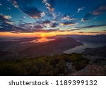 panoramic view on kotor bay ... | Shutterstock . vector #1189399132