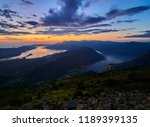 panoramic view on kotor bay ... | Shutterstock . vector #1189399135