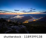 panoramic view on kotor bay ... | Shutterstock . vector #1189399138