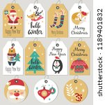 set of merry christmas and new... | Shutterstock .eps vector #1189401832