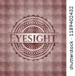 eyesight red emblem with... | Shutterstock .eps vector #1189402432