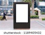 outdoor information board light ... | Shutterstock . vector #1189405432