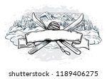 graphic illustration with a set ...   Shutterstock .eps vector #1189406275