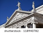 Pediment and Tympanum - stock photo