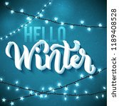 hello winter poster with... | Shutterstock . vector #1189408528