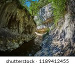 river in a wild gorge. cheile... | Shutterstock . vector #1189412455