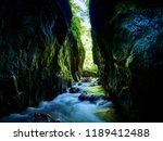 river in a wild gorge. cheile... | Shutterstock . vector #1189412488