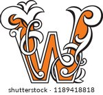 letter w heraldic monogram in... | Shutterstock .eps vector #1189418818