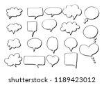 vector bubbles speech doodle... | Shutterstock .eps vector #1189423012