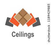 the logo of the ceilings  floors | Shutterstock .eps vector #1189429885