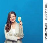 businesswoman wearing gray suit ... | Shutterstock . vector #1189444108