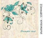romantic floral background | Shutterstock .eps vector #118944412