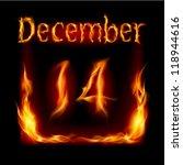 fourteenth december in calendar ... | Shutterstock .eps vector #118944616