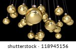 regular gold christmas baubles... | Shutterstock . vector #118945156
