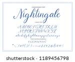 nightingale. handdrawn... | Shutterstock .eps vector #1189456798