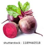 red beets or beetroots on white ... | Shutterstock . vector #1189460518